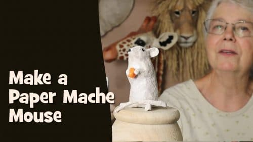 How to make a paper mache mouse