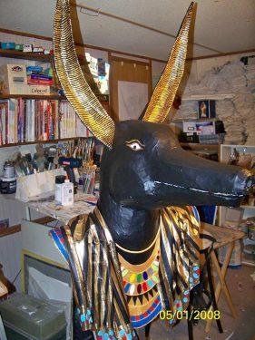 paper mache anubis mask