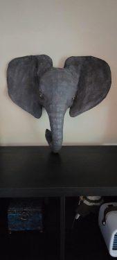 Paper mache baby elephant