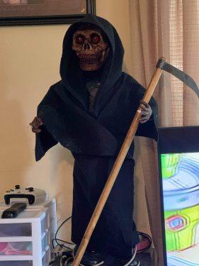 Paper mache grim reaper