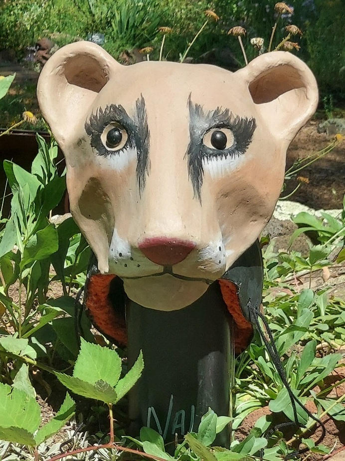 Paper mache Nala headdress mask