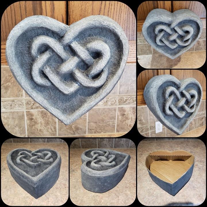 Paper mache Celtic Heart wall art