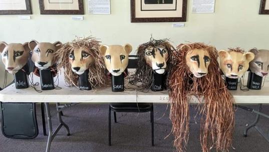 Paper mache Lion King Jr Headdress Masks