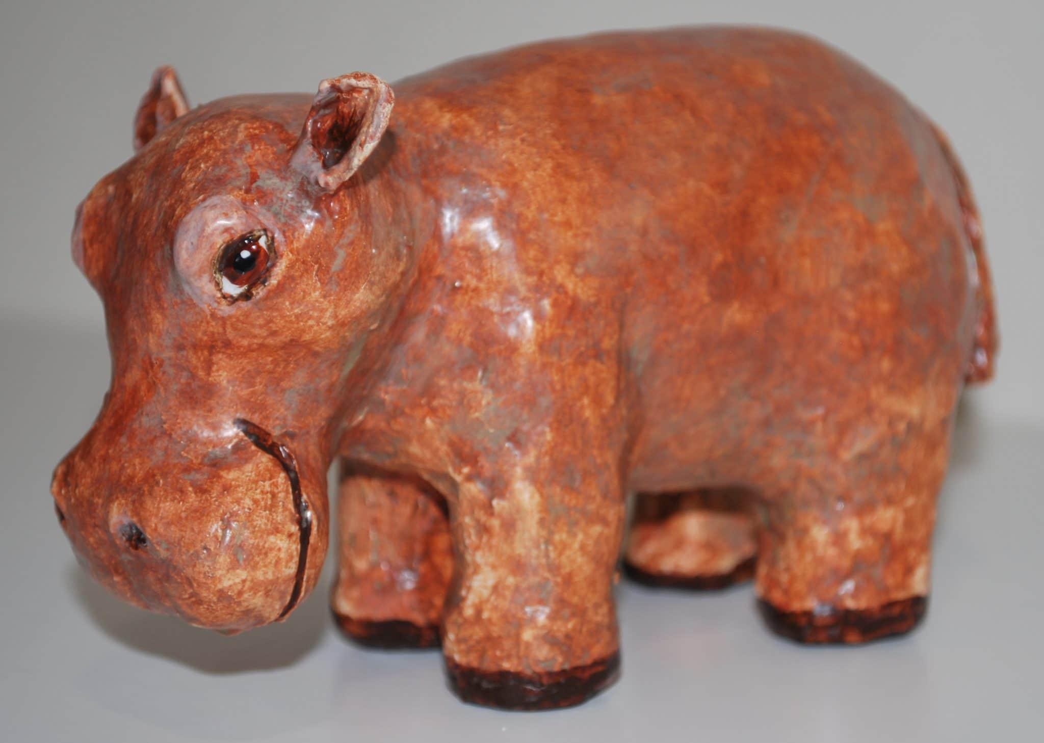 Paper mache hippo by Rex Winn
