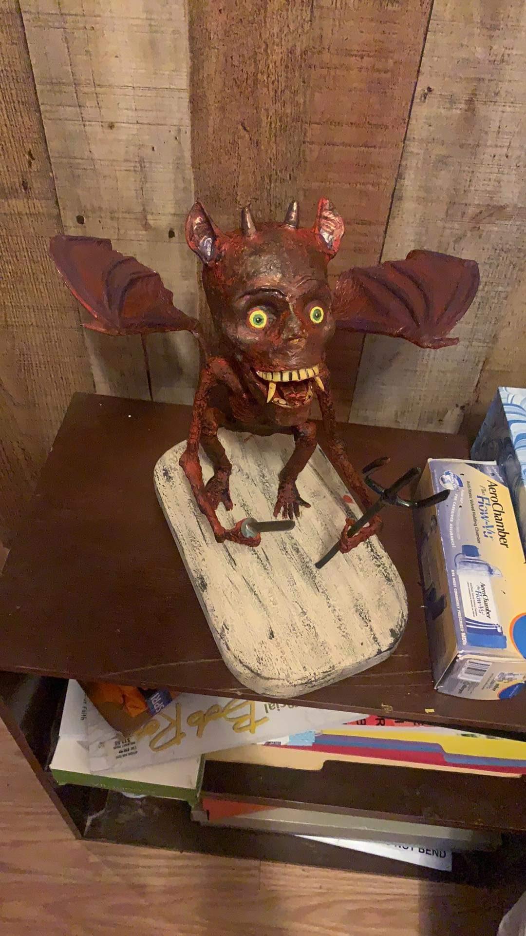My Devil made for Halloween decor
