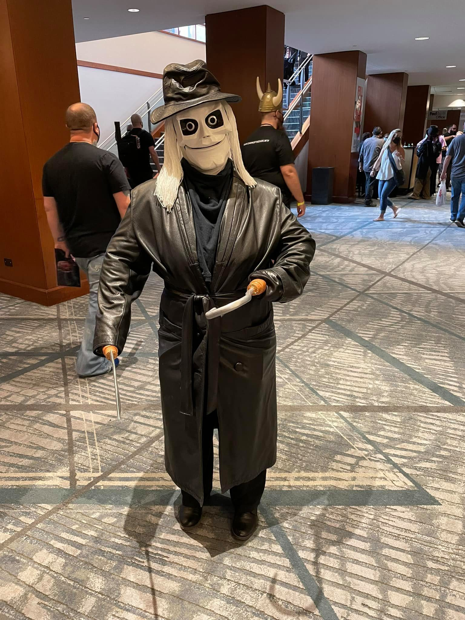 Puppet Master's Blade mask with costume
