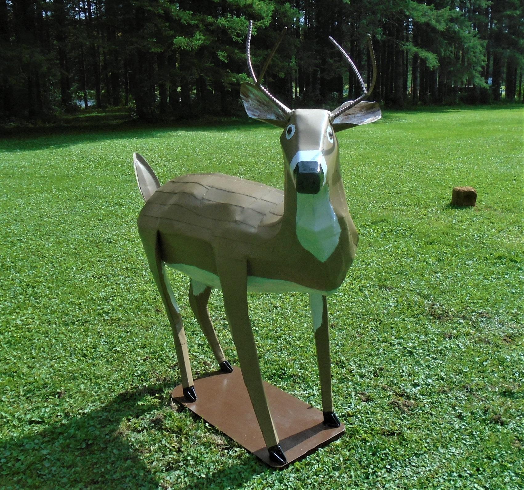 Steel Deer Sculpture Alan Monteith
