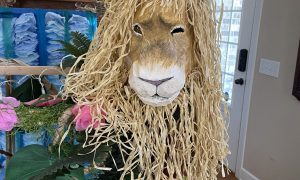 Homecoming float lion