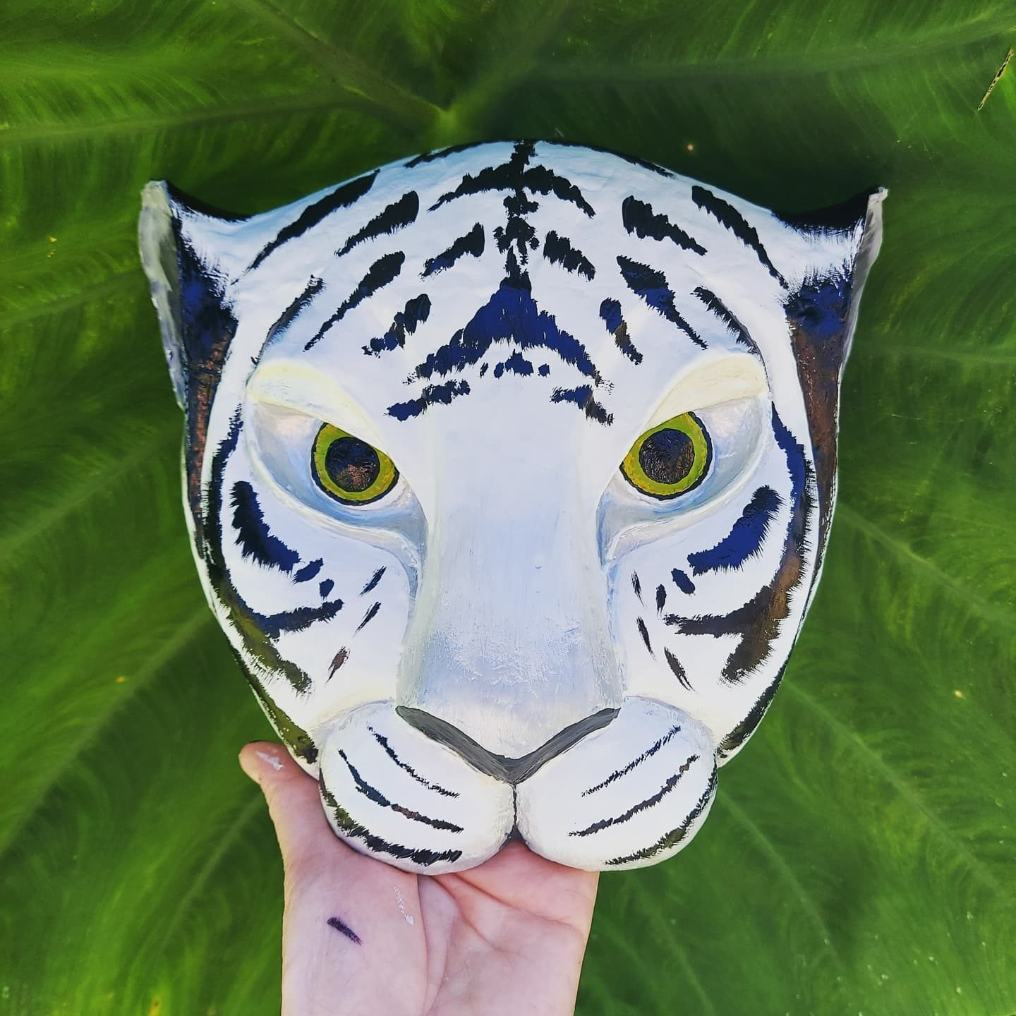 Nala headdress- but painted as a white tiger