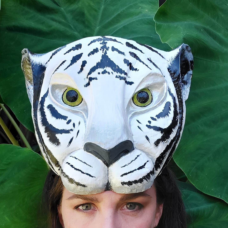 Tiger headdress mask