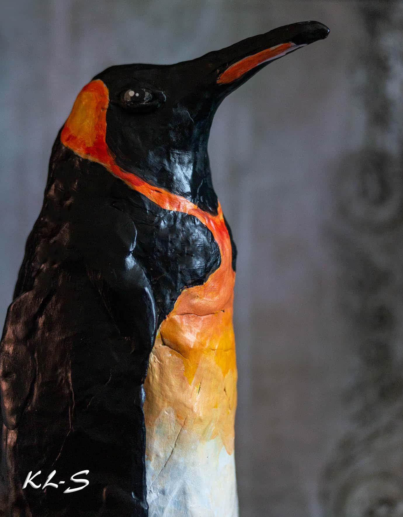 Paper mache king's penguin