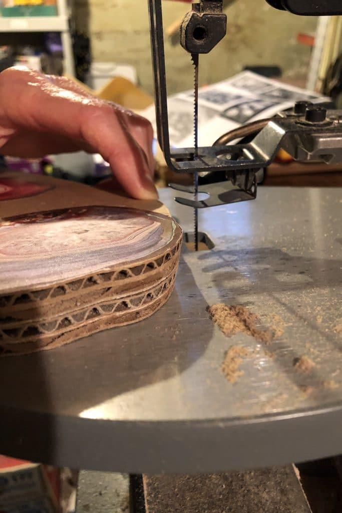 Cut out shapes of faux agates