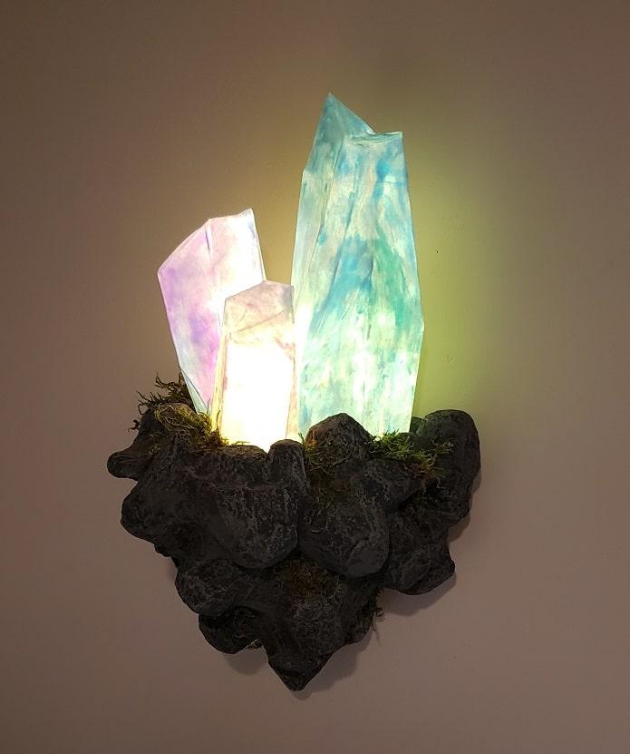 Crystal Wall Lamp DIY