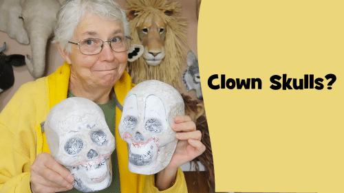 Halloween Clown Skulls