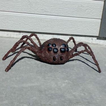 Paper mache spider