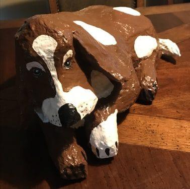 Paper mache hound