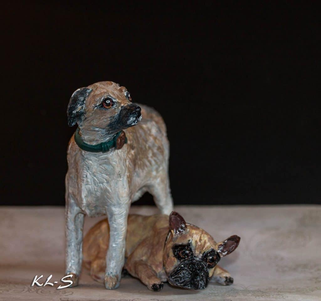 Rescue dog sculpture