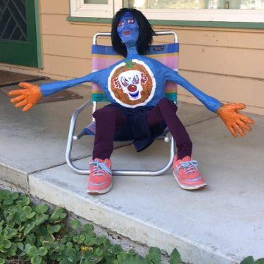 Clown-Pumpkin Alien Superhero??
