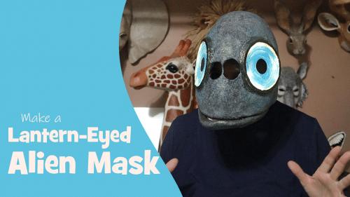 lantern eyed alien mask