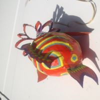 Paper Mache Fish, Painted