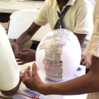 Teaching Paper Mache in the Caribbean
