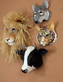 Patterns for Paper Mache Sculptures, Masks and Wall Art