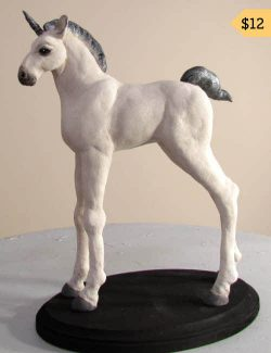 Baby Unicorn Apoxie Clay Pattern