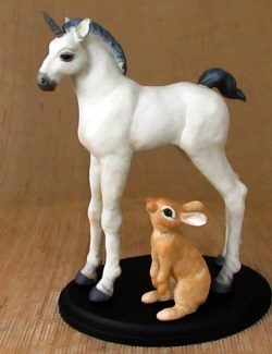 Baby unicorn and bunny patterns for Apoxie Sculpt