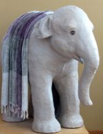 Life-Sized paper mache elephant pattern