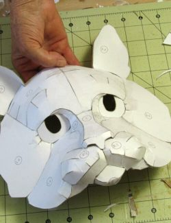 Cat Mask Pattern Before Paper Mache is Added