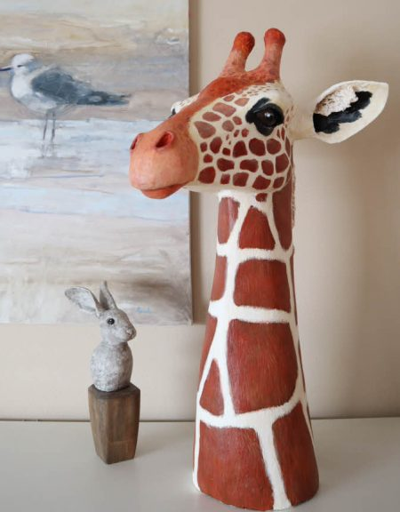 pattern for a paper mache giraffe