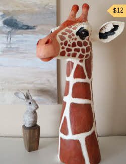 Pattern for paper mache giraffe
