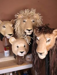 Four downloadable Lion King masks for Lion King Play