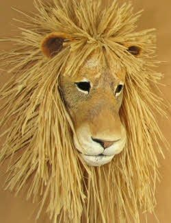 lion mask pattern