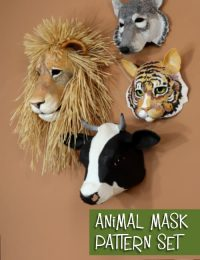Animal mask pattern set.