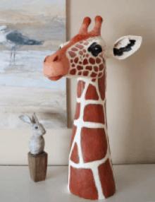 Paper mache giraffe pattern.