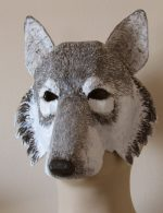 Downloadable pattern for wolf mask